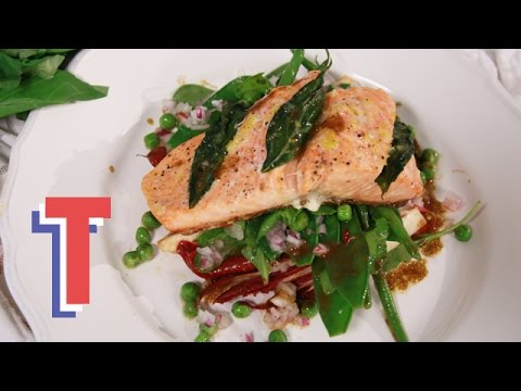 Health Kick Salmon With Spring Salad I Yum In The Sun 3