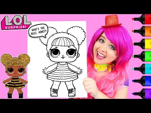 Xxx Mp4 Coloring LOL Surprise Dolls Queen Bee Glitter Coloring Page Prismacolor Markers KiMMi THE CLOWN 3gp Sex