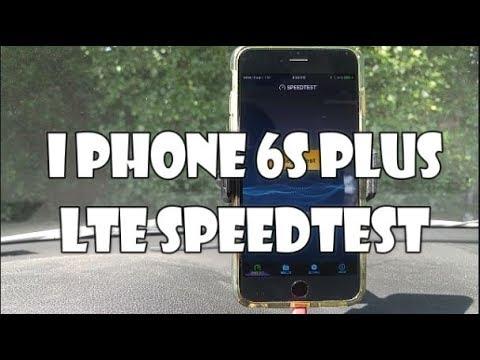 4G LTE Sprint iPhone 6s+ Speed Test