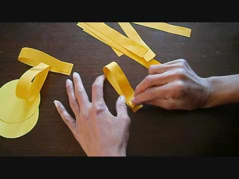 יצירה לקיץ שמש מרצועות נייר How to make a sun from Paper