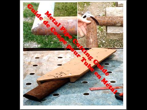 38-metal pipe angle cuttig jig / guide de coupe tu
