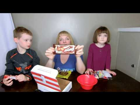 Stacy and Her Kids Try the International Bocandy Candy Box from Amazon