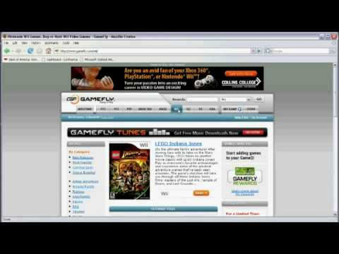 Using the Internet : How to Rent Games Online