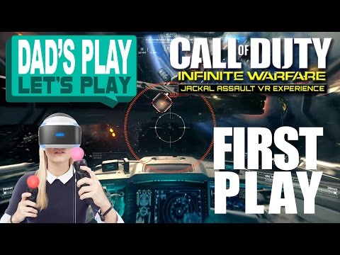 Playstation VR (PSVR) - Dad Play Lets Play - Call Of Duty - Jackal Assault VR Experience