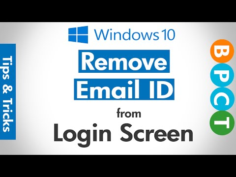 Hide/Remove Email from Windows 10 Login Screen