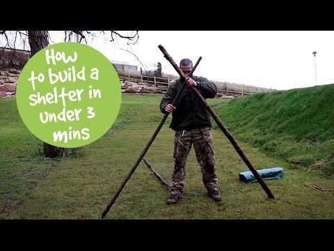 How to build a shelter in under 3 minutes