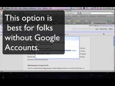 Sharing Google Docs with Non-Google Users