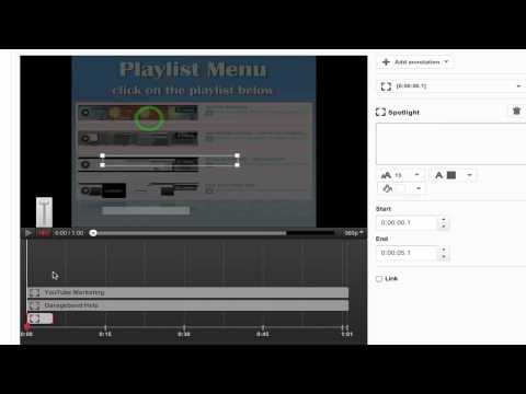 How to make a video menu using annotations on YouTube