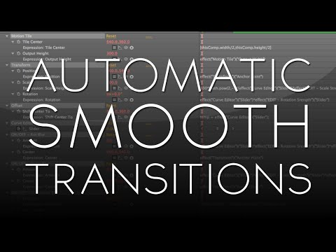 After Effects Tutorial: Automatic Smooth Transitions (CS6+)