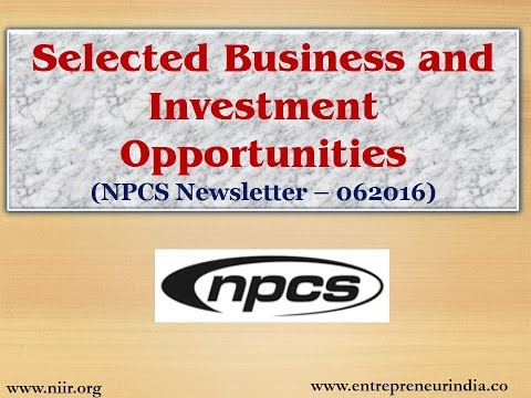 Selected Business and Investment Opportunities (NPCS Newsletter – 062016)