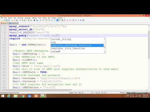 Forgot password send in mail with multiple user  PHP video Tutorial-114(Hindi/Urdu) | Youtube