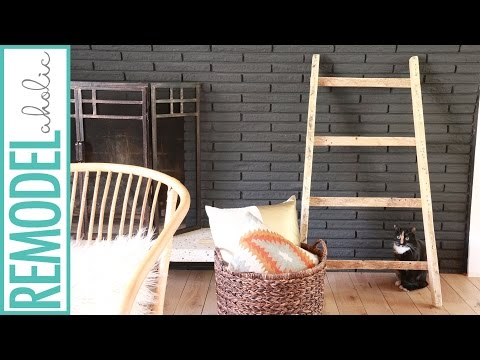 DIY Blanket Ladder Tutorial from Pallet wood; Build for Free!