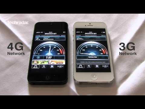 iPhone 5 4G EE Internet Speed Test