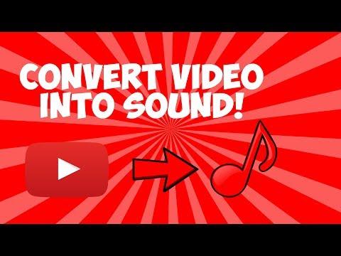 CONVERT VIDEO INTO MP3 (SOUND FILE) EASY!
