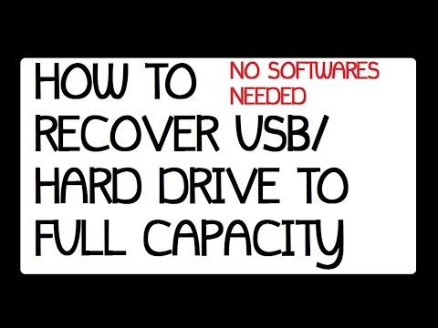 How to retrive the Flash drive / Hard drive to full Storage Space Windows 7, Windows 8.1 . 2015