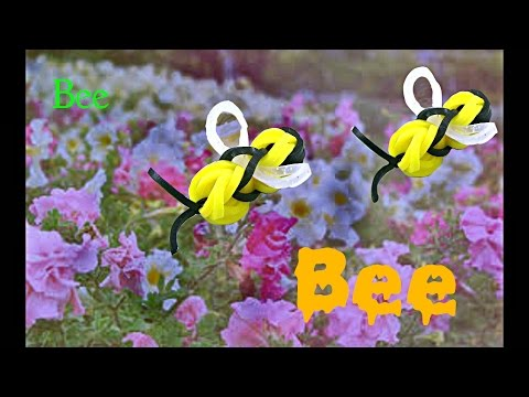 how to make a Bee from rubber band