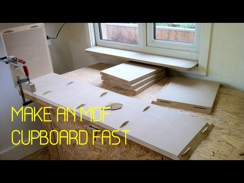 DIY - Make an mdf storage cupboard - A timelapse tutorial