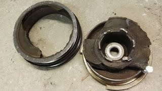 how to remove crankshaft pulley bmw e46