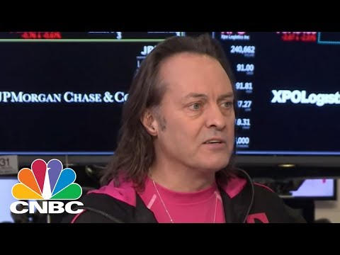 T-Mobile CEO John Legere: We're The Only Wireless Carrier With Growing Service Revenues | CNBC