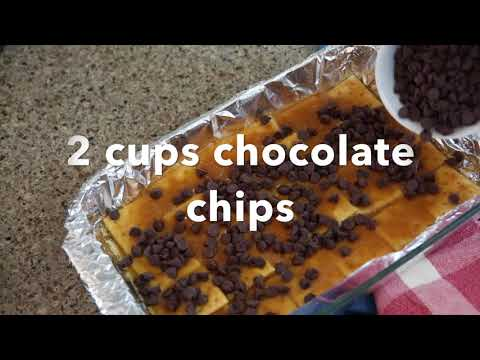 Saltine Cracker Toffee Candy Recipe