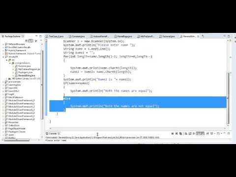 Java in Tamil - Palindrome program