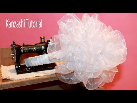 Back to School How to Make Kanzashi Headband / Kanzashi Tutorial