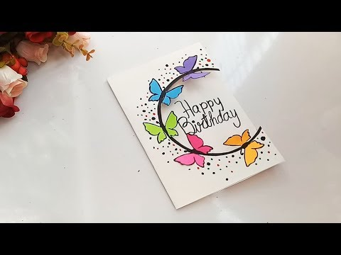 How To Make Special Butterfly Birthday Card For Best Friend DIY Gift Idea