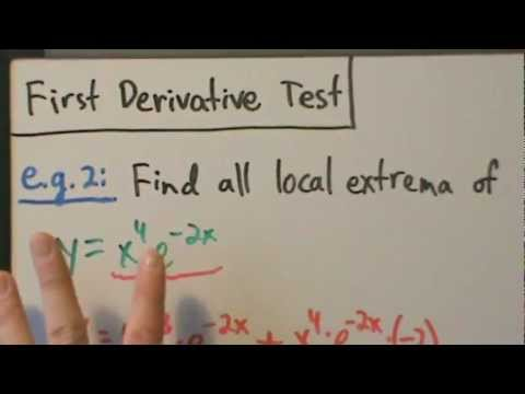Calculus I - Local (Relative) Extrema and First Derivative Test - Example 2