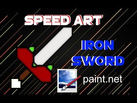 Iron Sword Speed Art Minecraft - Paint.Net