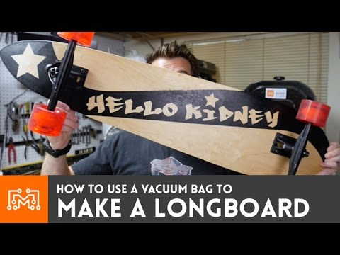 Custom Longboard using a vacuum bag // How-To