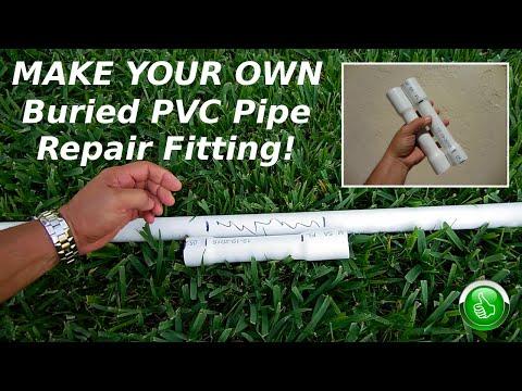 DIY Buried PVC Pipe Repair Fitting