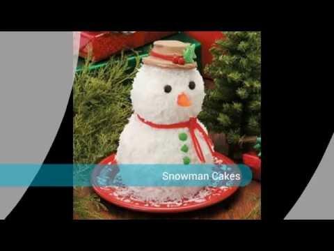 Snowman Christmas Cakes