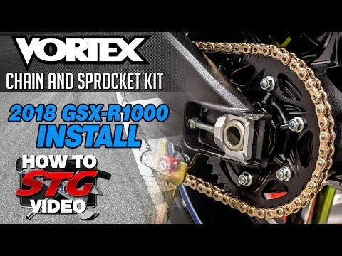Vortex 2018 Suzuki GSX-R1000 Chain and Sprocket Install | Sportbiketrackgear.com