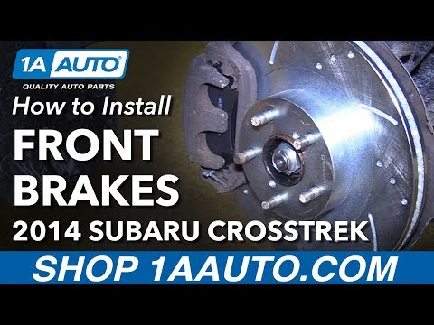 How to Install Replace Front Brake Pads Rotors 2013-14 Subaru XV Crosstrek