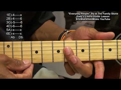 Easy 2 Chord Guitar Song Lesson - Everyday People Sly & The Family Stone
