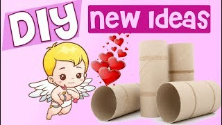Valentine's crafts with tp rolls ❤️ Easy recycled diy for kids Cute & Kawaii valentine gifts