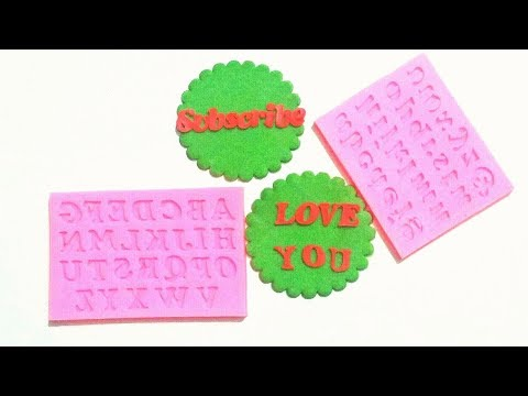 How to use SILICONE ALPHABET MOLD. Tips and Tricks to make FONDANT LETTERS with SILICONE MOLDS