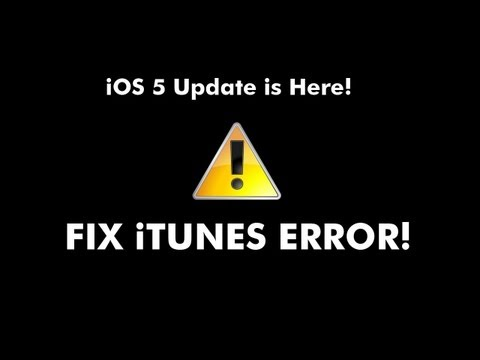 iOS 5 Finally Released! Update Now! Fix Error 3194 in iTunes! Works For iOS 8!
