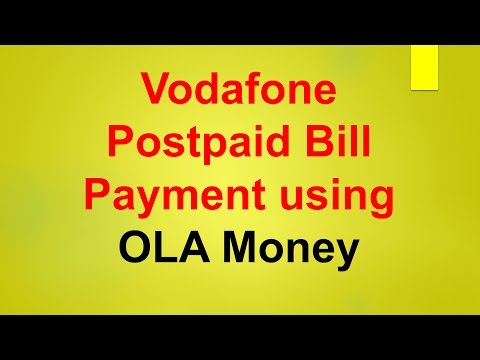 Vodafone Bill Payment Using OLA Money