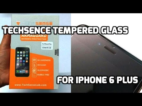 Tech Sense Lab Tempered Glass For iPhone 6 Plus & 6S Plus Unboxing And Overview (INDIA)