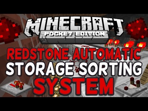 How to Make an Automatic Sorting System in Minecraft PE 1.2+