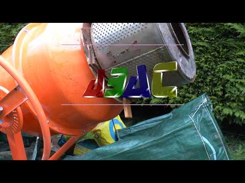Build a sand/soil sieve addon for a cement mixer
