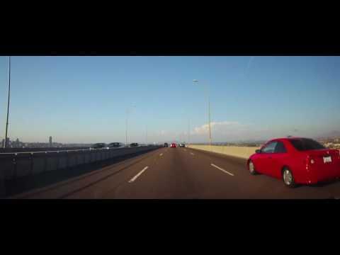 Driving Across The San Diego–Coronado Bridge in California