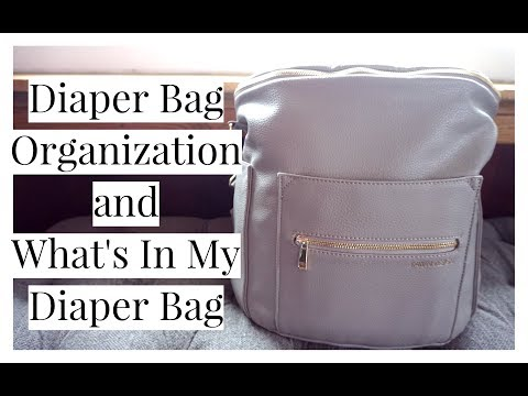 How To Keep A Diaper Bag Organized & Ready   What's In My Baby Bag