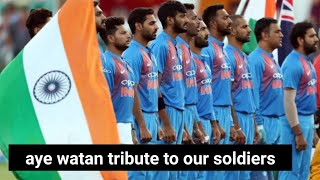 Ae watan mere abaad rahe to tribute to our soldiers (indian cricket team 2019 world cup)