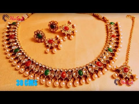 Latest Designer Gold Necklaces 2017 || Indian Jewellery Designs 2017