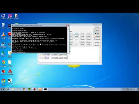 how to create database in  Mysql using xampp phpMyadmin & console mode both