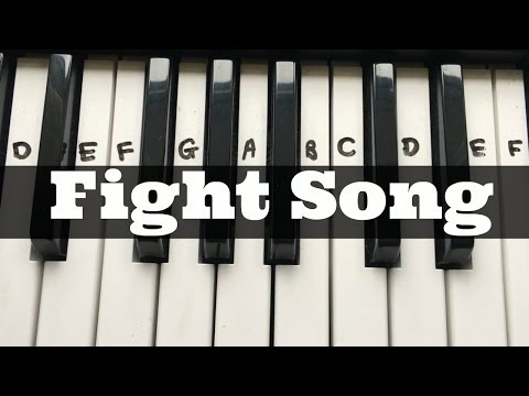 Fight Song - Rachel Platten | Easy Keyboard Tutorial With Notes (Right Hand)