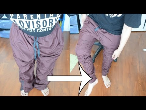 DIY: Baggy to Skinny Thrifted Trackpants! | KAD TRANSFORMATION #3
