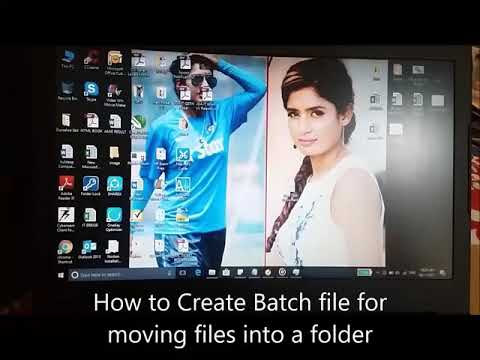 Move flies through batch file : move *.extension fodername easy and quick step